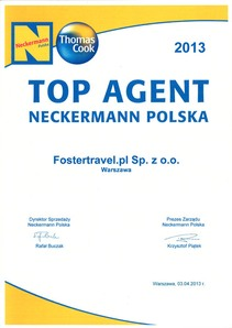 Neckermann Polska - TOP AGENT 2013 - Fostertravel.pl